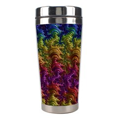 Fractal Art Design Colorful Stainless Steel Travel Tumblers