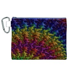Fractal Art Design Colorful Canvas Cosmetic Bag (XL)