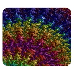 Fractal Art Design Colorful Double Sided Flano Blanket (Small)