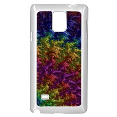 Fractal Art Design Colorful Samsung Galaxy Note 4 Case (White)