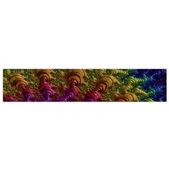 Fractal Art Design Colorful Flano Scarf (Small)
