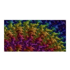 Fractal Art Design Colorful Satin Wrap