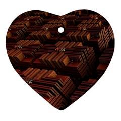 Fractal 3d Render Futuristic Ornament (heart)