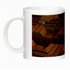 Fractal 3d Render Futuristic Night Luminous Mugs