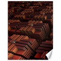 Fractal 3d Render Futuristic Canvas 18  x 24
