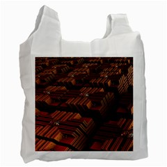 Fractal 3d Render Futuristic Recycle Bag (two Side)