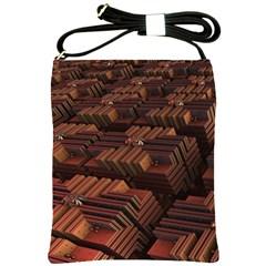 Fractal 3d Render Futuristic Shoulder Sling Bags