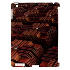 Fractal 3d Render Futuristic Apple Ipad 3/4 Hardshell Case (compatible With Smart Cover)