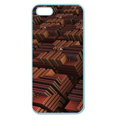 Fractal 3d Render Futuristic Apple Seamless iPhone 5 Case (Color)