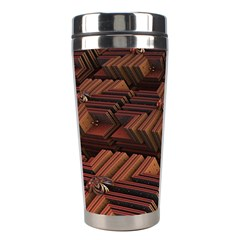Fractal 3d Render Futuristic Stainless Steel Travel Tumblers