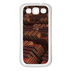 Fractal 3d Render Futuristic Samsung Galaxy S3 Back Case (White)