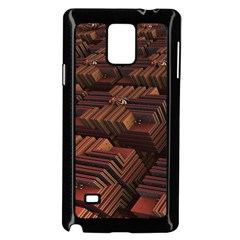 Fractal 3d Render Futuristic Samsung Galaxy Note 4 Case (black)