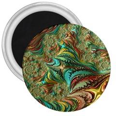 Fractal Artwork Pattern Digital 3  Magnets