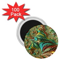Fractal Artwork Pattern Digital 1.75  Magnets (100 pack)