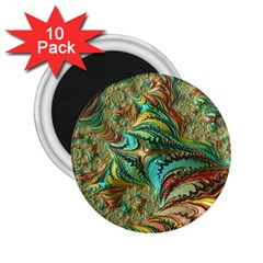 Fractal Artwork Pattern Digital 2.25  Magnets (10 pack)