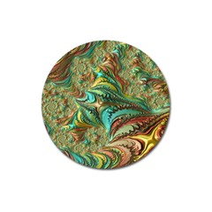 Fractal Artwork Pattern Digital Magnet 3  (Round)