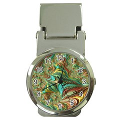 Fractal Artwork Pattern Digital Money Clip Watches