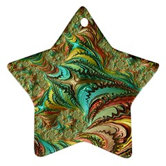 Fractal Artwork Pattern Digital Star Ornament (two Sides)