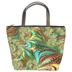 Fractal Artwork Pattern Digital Bucket Bags