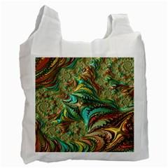 Fractal Artwork Pattern Digital Recycle Bag (One Side)