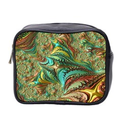 Fractal Artwork Pattern Digital Mini Toiletries Bag 2-Side