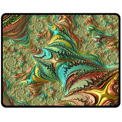 Fractal Artwork Pattern Digital Fleece Blanket (Medium)