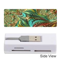 Fractal Artwork Pattern Digital Memory Card Reader (Stick)