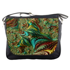 Fractal Artwork Pattern Digital Messenger Bags