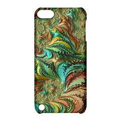 Fractal Artwork Pattern Digital Apple iPod Touch 5 Hardshell Case with Stand