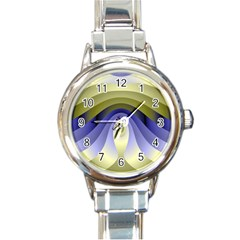 Fractal Eye Fantasy Digital Round Italian Charm Watch