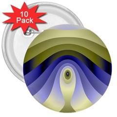 Fractal Eye Fantasy Digital 3  Buttons (10 Pack)