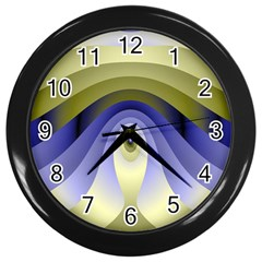 Fractal Eye Fantasy Digital Wall Clocks (Black)