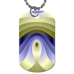 Fractal Eye Fantasy Digital Dog Tag (Two Sides)