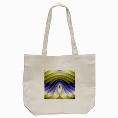 Fractal Eye Fantasy Digital Tote Bag (Cream)