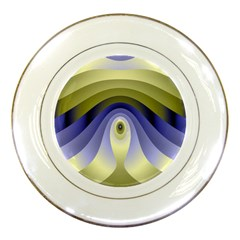 Fractal Eye Fantasy Digital Porcelain Plates