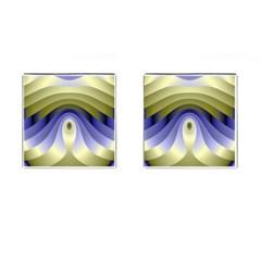 Fractal Eye Fantasy Digital Cufflinks (Square)
