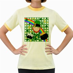 Lucky Irish Women s Fitted Ringer T-Shirts