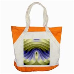 Fractal Eye Fantasy Digital Accent Tote Bag