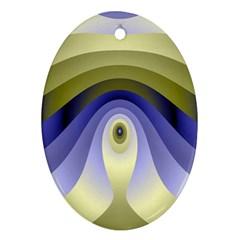Fractal Eye Fantasy Digital Oval Ornament (Two Sides)