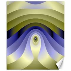 Fractal Eye Fantasy Digital Canvas 8  X 10