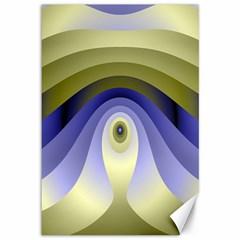 Fractal Eye Fantasy Digital Canvas 12  X 18