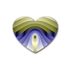 Fractal Eye Fantasy Digital Heart Coaster (4 pack)