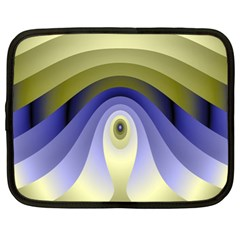 Fractal Eye Fantasy Digital Netbook Case (xl)