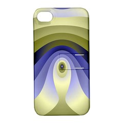 Fractal Eye Fantasy Digital Apple Iphone 4/4s Hardshell Case With Stand