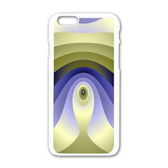 Fractal Eye Fantasy Digital Apple iPhone 6/6S White Enamel Case