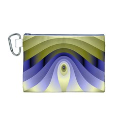 Fractal Eye Fantasy Digital Canvas Cosmetic Bag (m)
