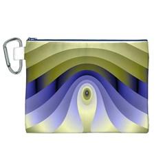 Fractal Eye Fantasy Digital Canvas Cosmetic Bag (xl)
