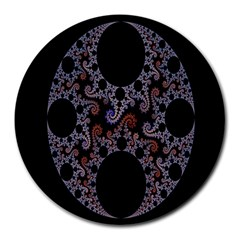 Fractal Complexity Geometric Round Mousepads