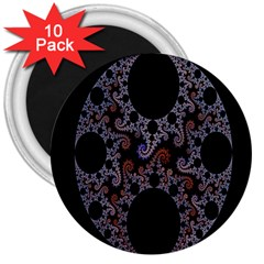 Fractal Complexity Geometric 3  Magnets (10 Pack)