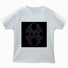 Fractal Complexity Geometric Kids White T-Shirts